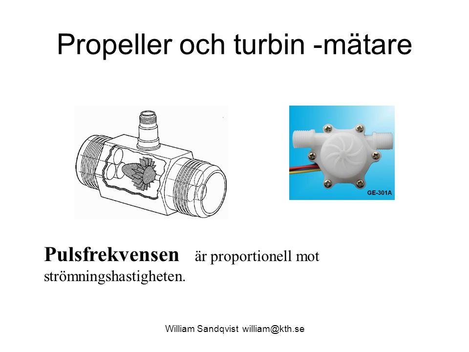 Propeller och turbin -mätare