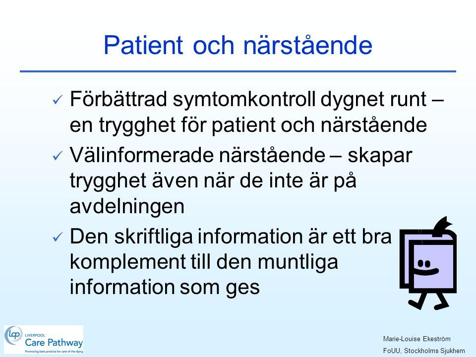 Patient och närstående