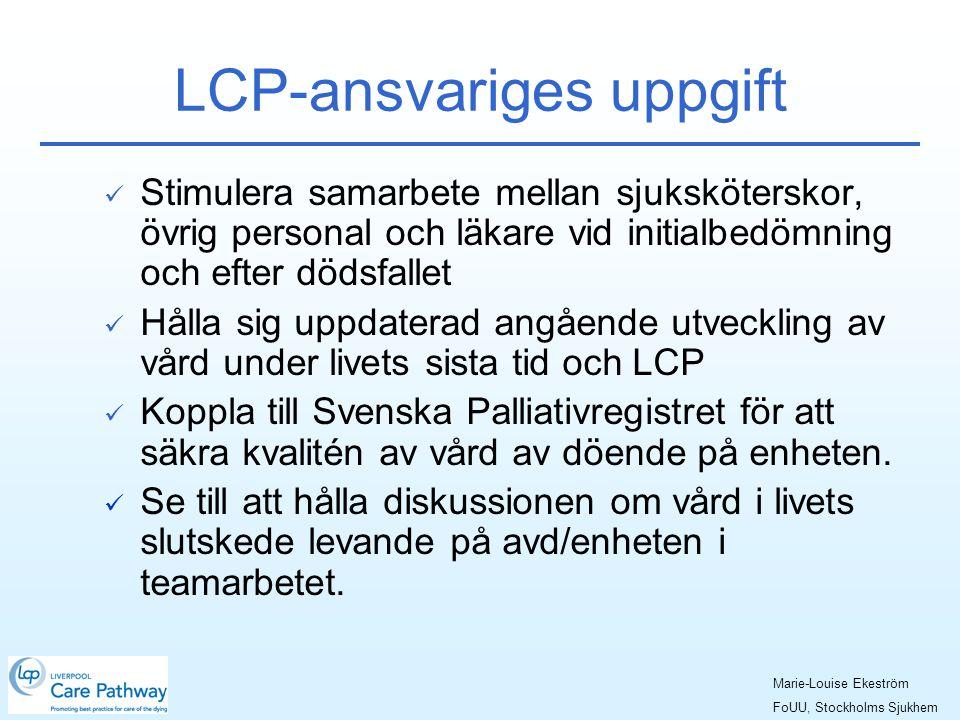 LCP-ansvariges uppgift