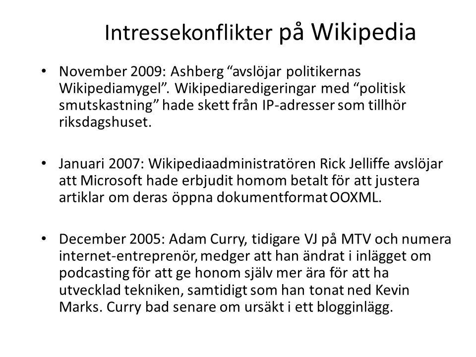 Intressekonflikter på Wikipedia