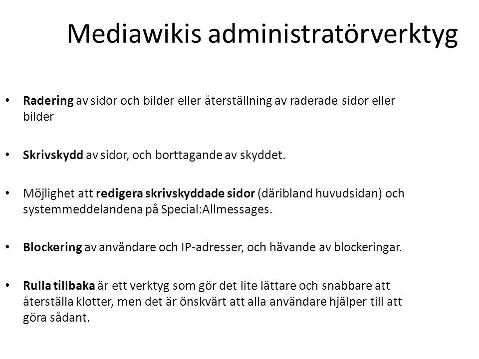 Mediawikis administratörverktyg