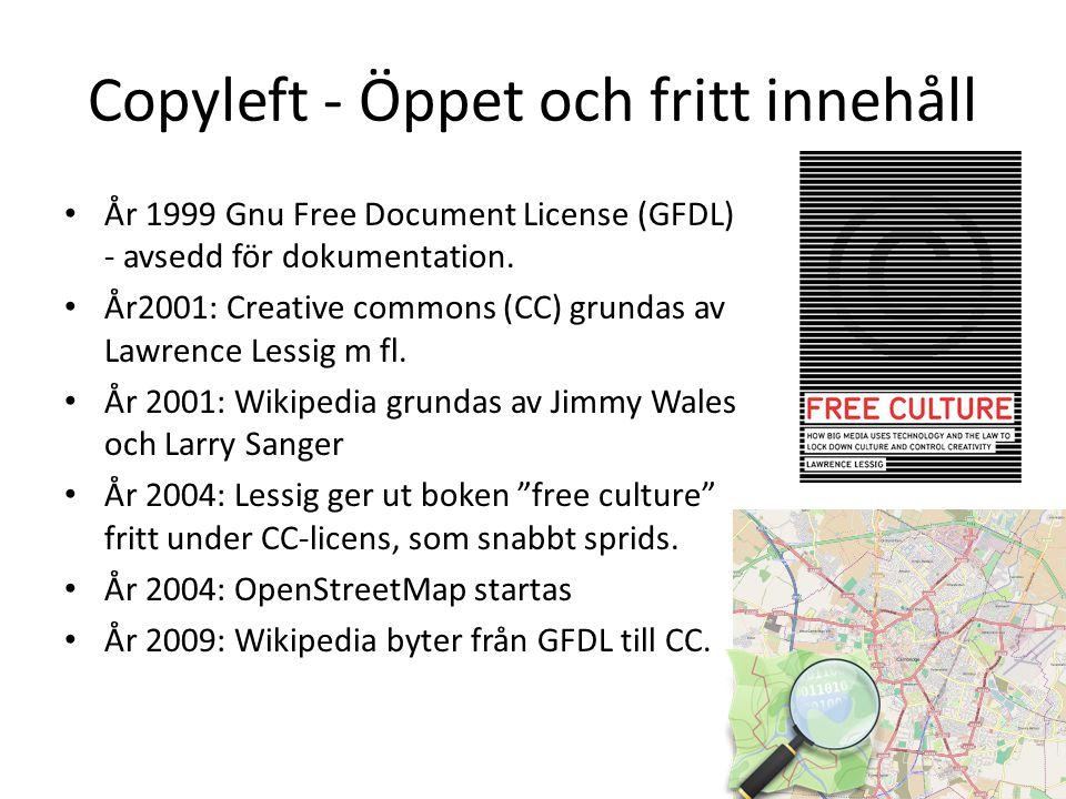 Copyleft - Öppet och fritt innehåll