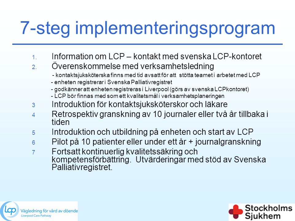 7-steg implementeringsprogram