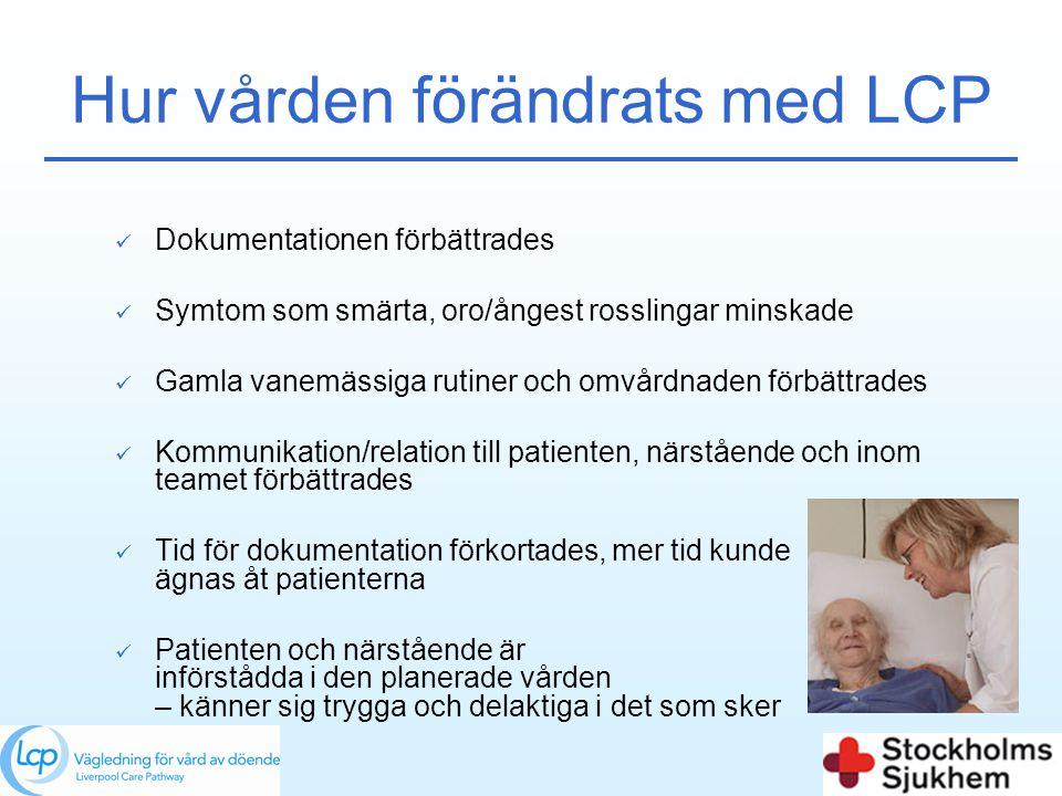 Hur vården förändrats med LCP