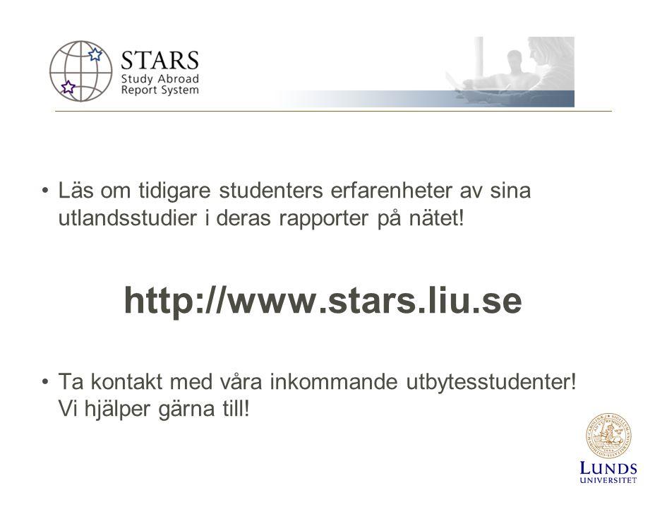 2010-01-20 Läs om tidigare studenters erfarenheter av sina utlandsstudier i deras rapporter på nätet!