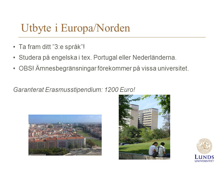 Utbyte i Europa/Norden