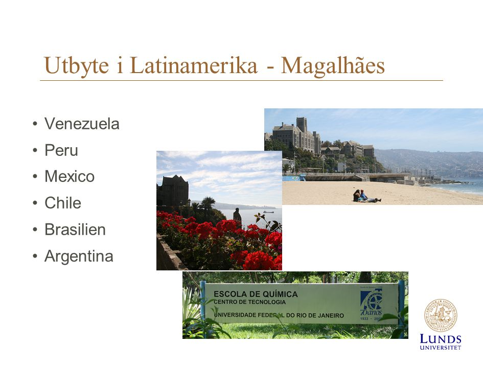Utbyte i Latinamerika - Magalhães