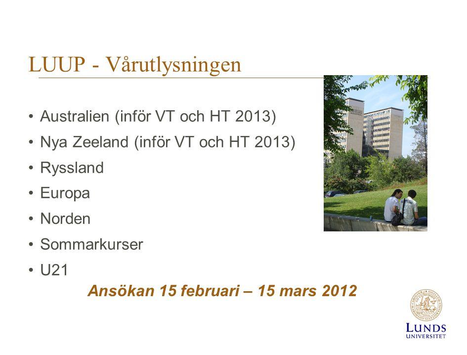 Ansökan 15 februari – 15 mars 2012