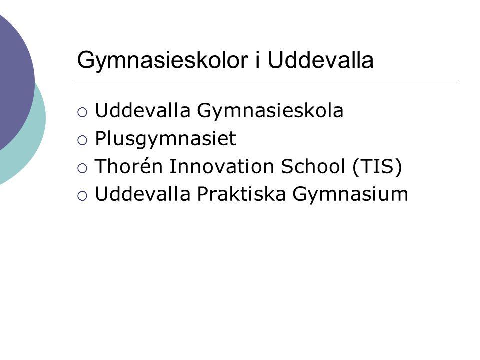 Gymnasieskolor i Uddevalla
