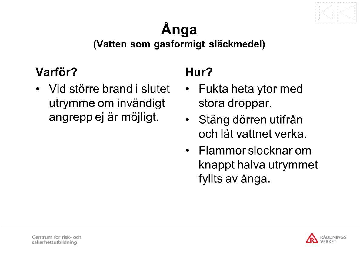 Ånga (Vatten som gasformigt släckmedel)