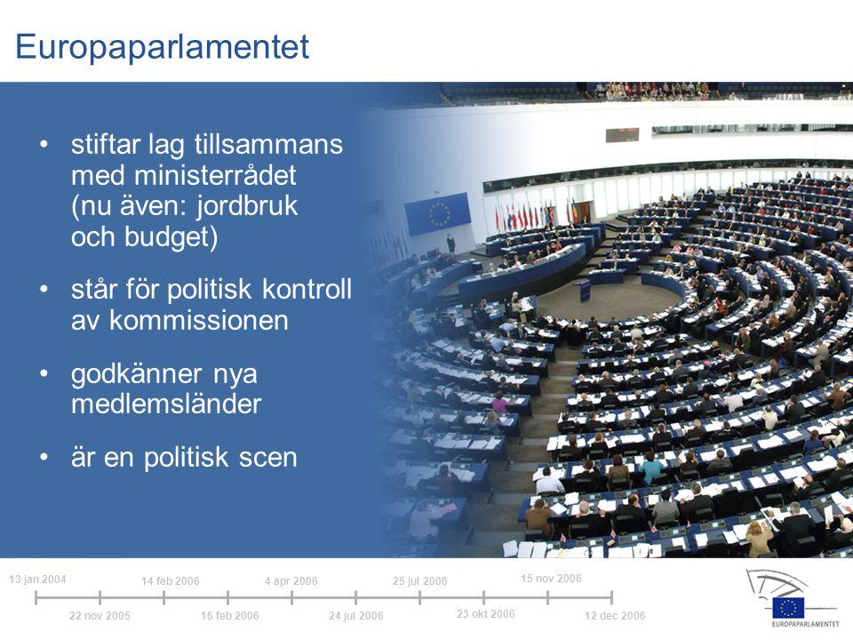 Europaparlamentet stiftar lag tillsammans med ministerrådet