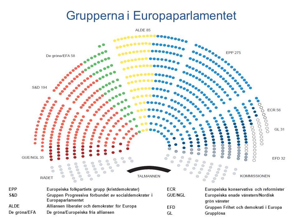 Grupperna i Europaparlamentet