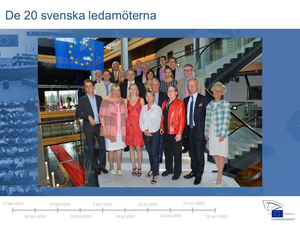 De 20 svenska ledamöterna