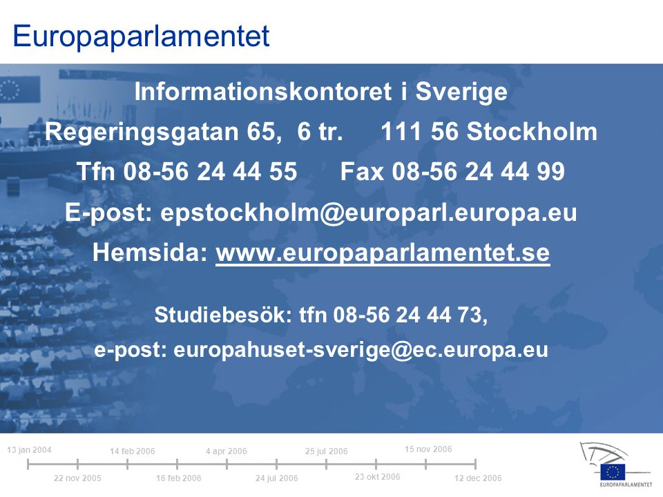 Europaparlamentet Informationskontoret i Sverige