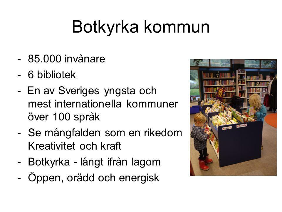 Botkyrka kommun 85.000 invånare 6 bibliotek