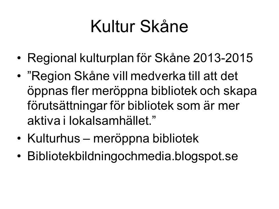 Kultur Skåne Regional kulturplan för Skåne 2013-2015