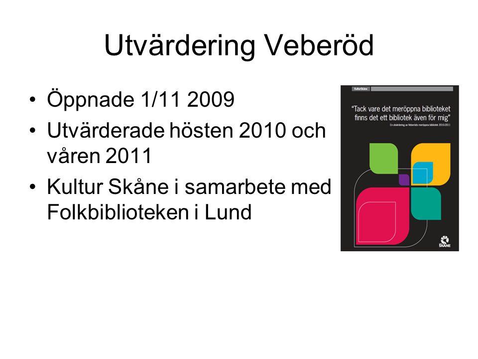 Utvärdering Veberöd Öppnade 1/11 2009