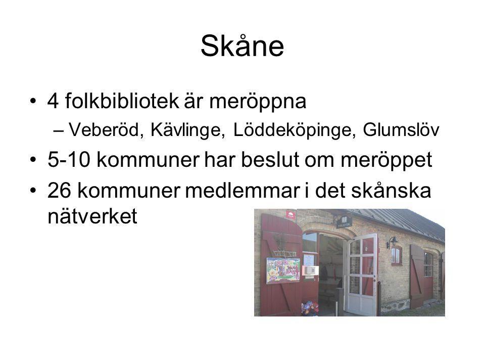 Skåne 4 folkbibliotek är meröppna 5-10 kommuner har beslut om meröppet