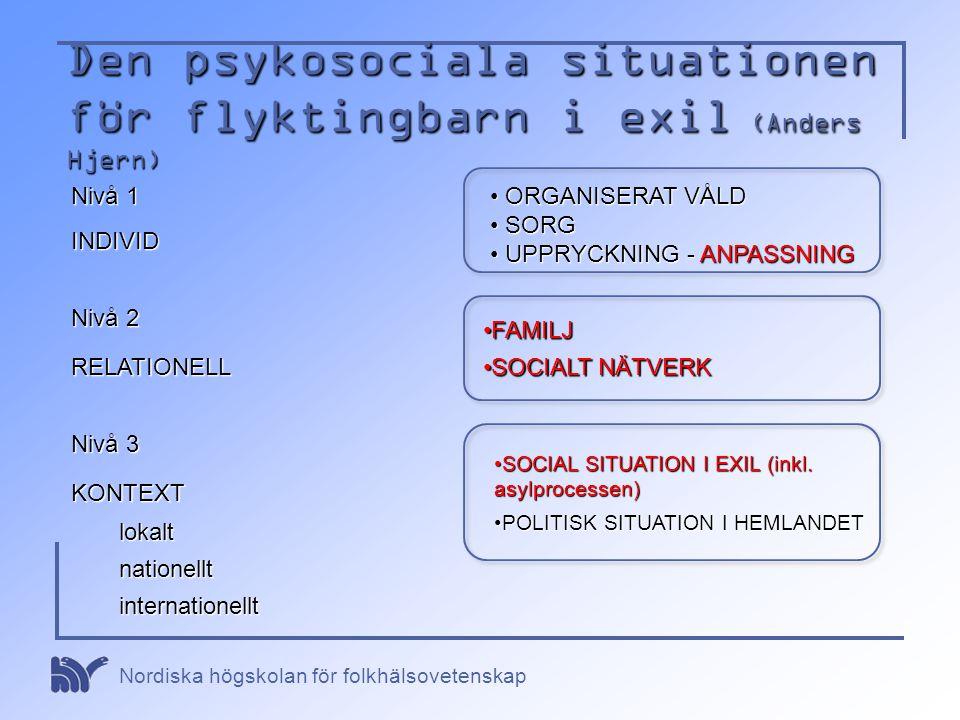 Den psykosociala situationen för flyktingbarn i exil (Anders Hjern)
