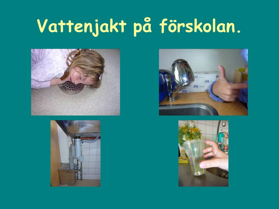 Vattenjakt på förskolan.