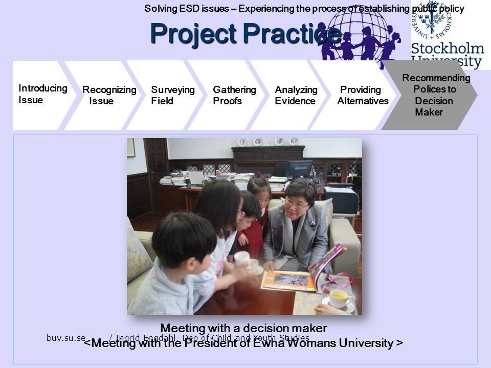 Project Practice Meeting with a decision maker