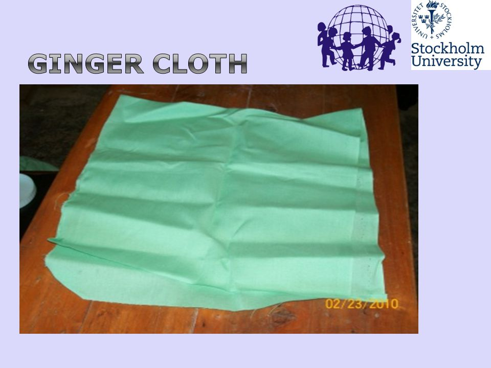 Ginger cloth