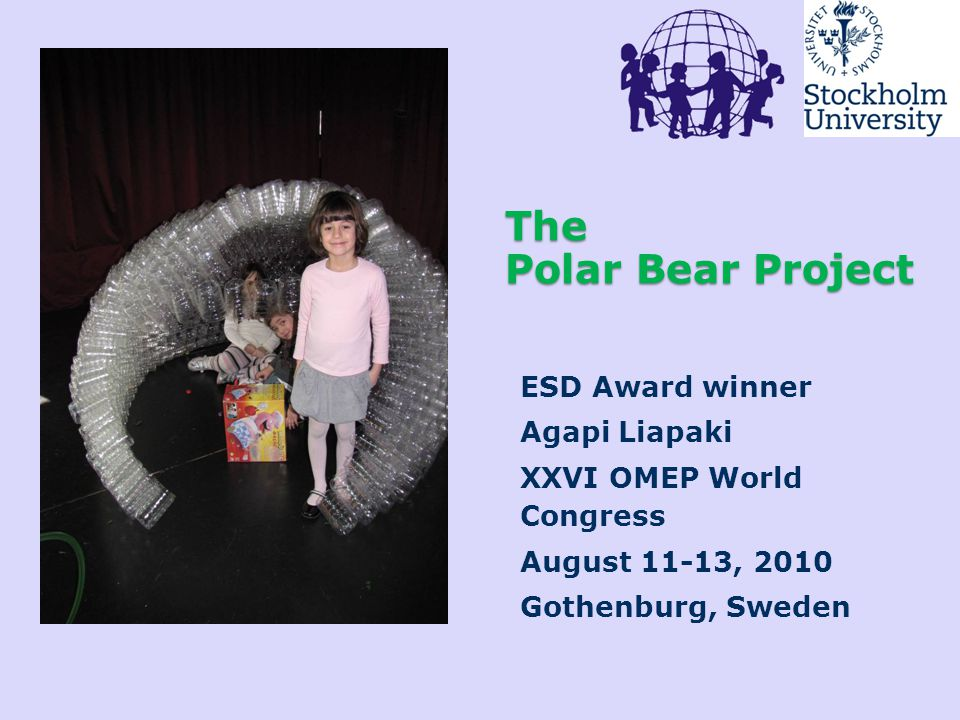 The Polar Bear Project ESD Award winner Agapi Liapaki