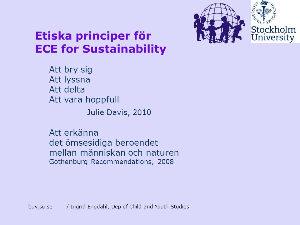 ECE for Sustainability