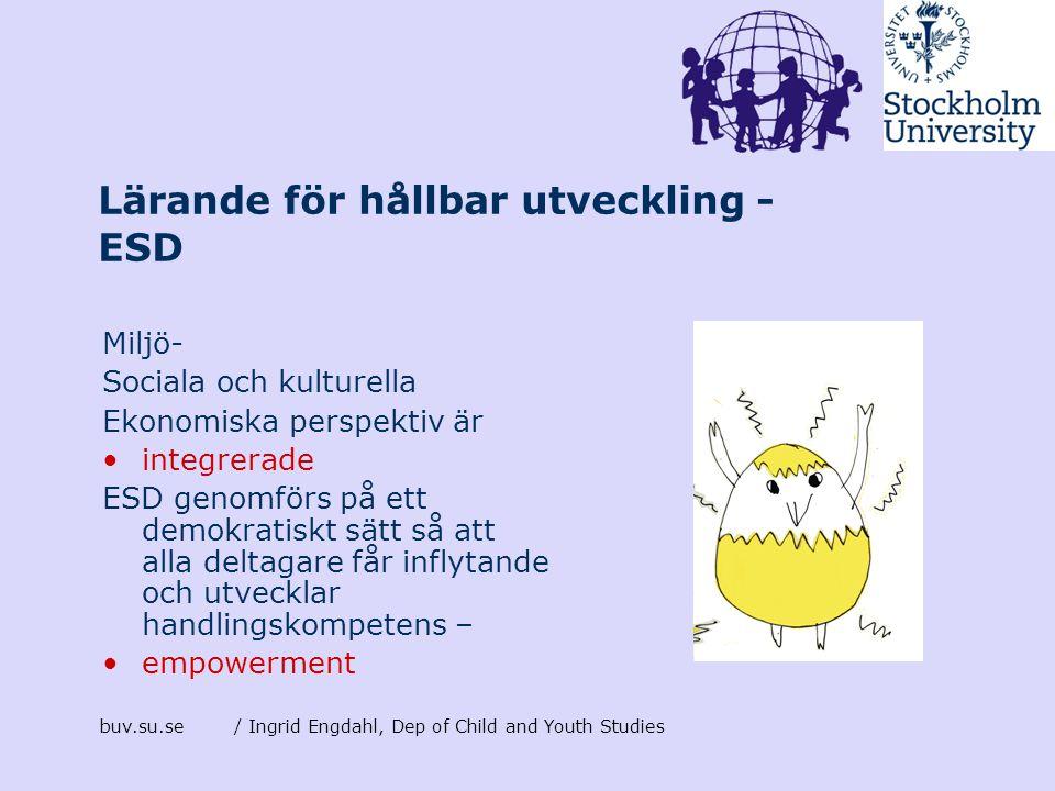 Lärande för hållbar utveckling - ESD