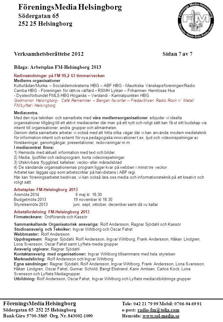 FöreningsMedia Helsingborg Södergatan 65