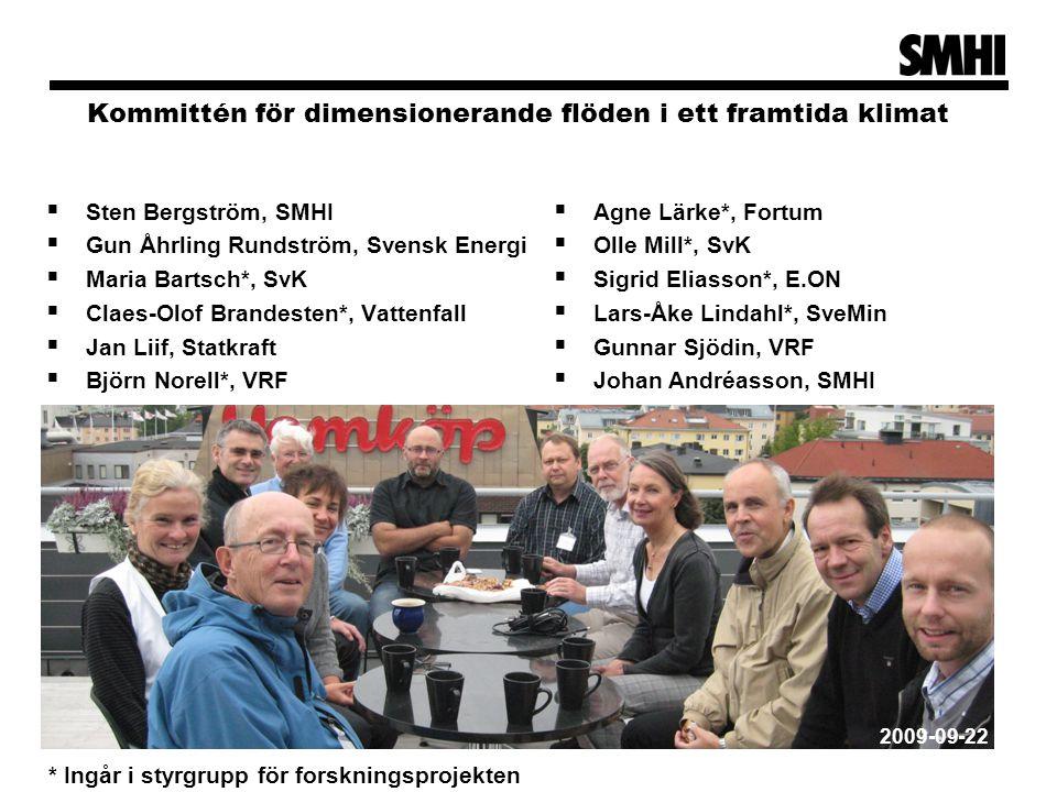 Kommittén för dimensionerande flöden i ett framtida klimat