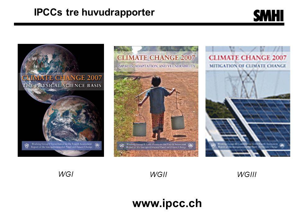 IPCCs tre huvudrapporter