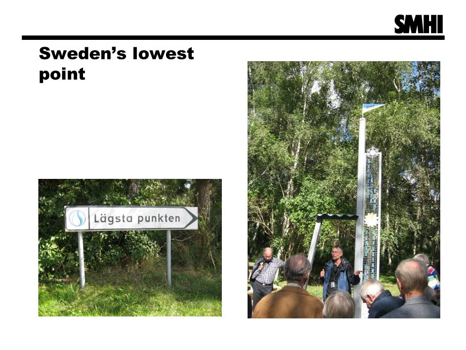 Sweden's lowest point