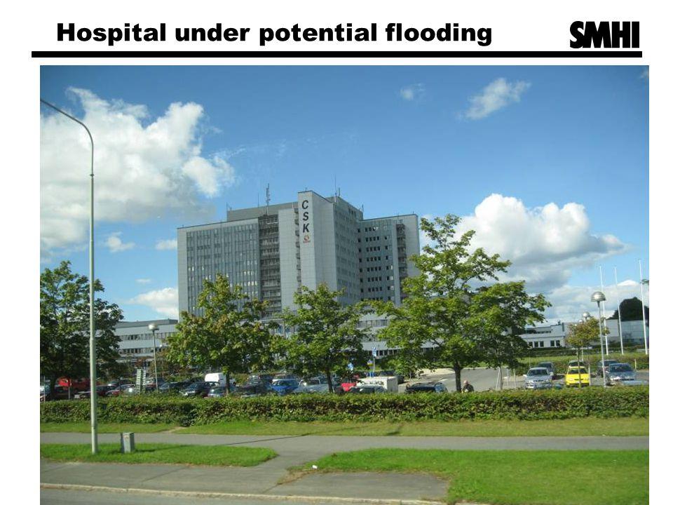 Hospital under potential flooding