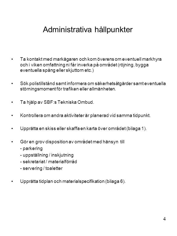 Administrativa hållpunkter