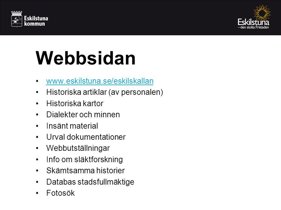Webbsidan www.eskilstuna.se/eskilskallan