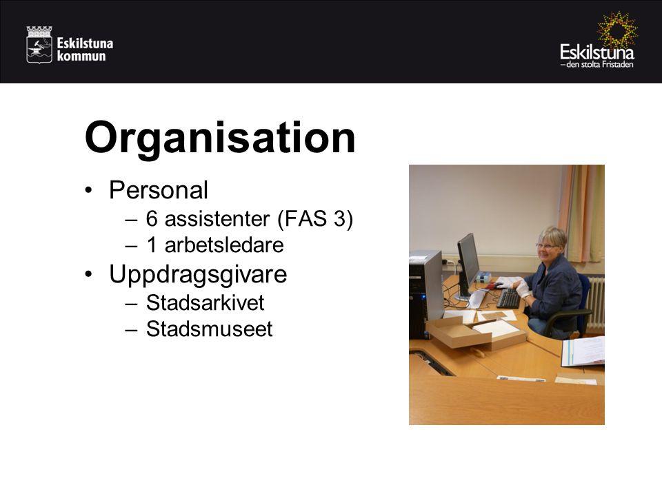 Organisation Personal Uppdragsgivare 6 assistenter (FAS 3)