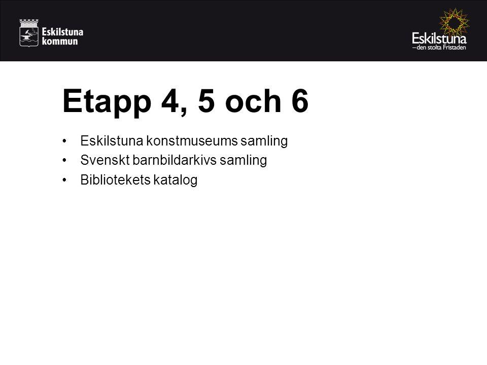 Etapp 4, 5 och 6 Eskilstuna konstmuseums samling