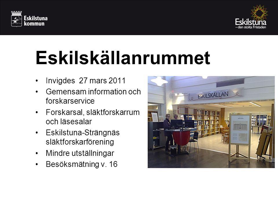 Eskilskällanrummet Invigdes 27 mars 2011