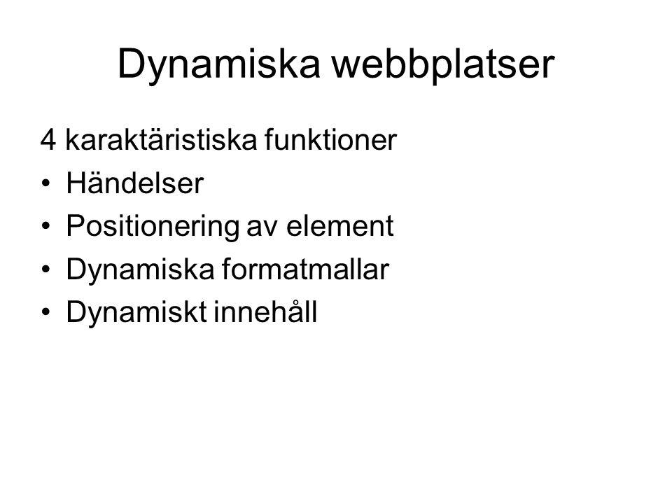 Dynamiska webbplatser