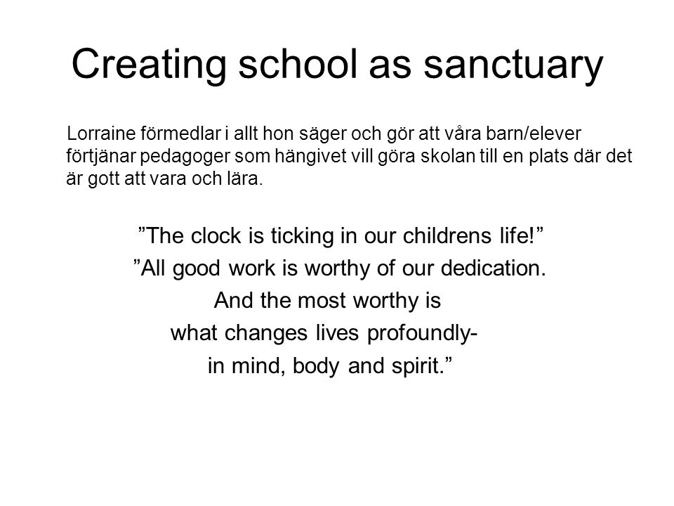 Creating school as sanctuary