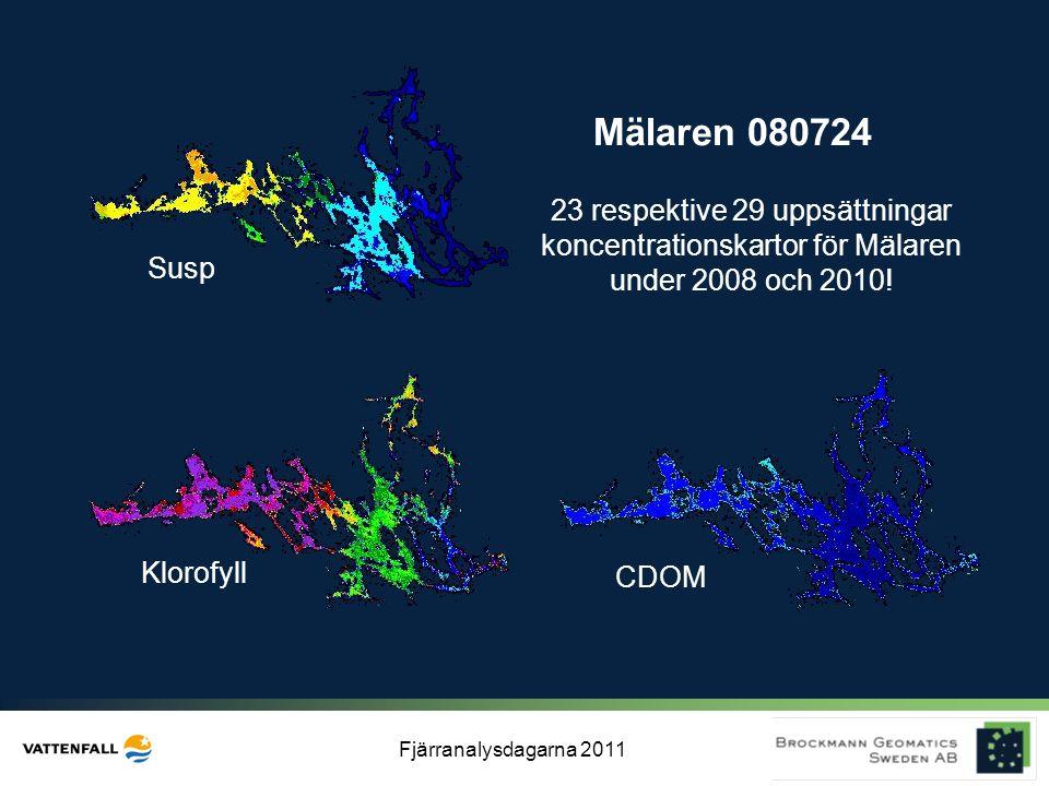 Mälaren 080724 23 respektive 29 uppsättningar koncentrationskartor för Mälaren under 2008 och 2010!