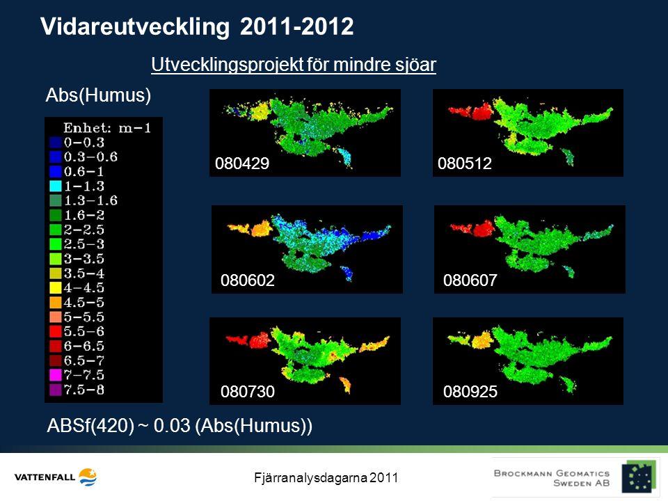 Vidareutveckling 2011-2012 Utvecklingsprojekt för mindre sjöar