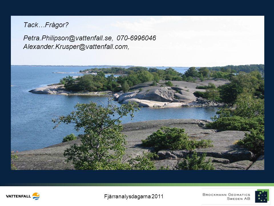 Tack…Frågor Petra.Philipson@vattenfall.se, 070-6996046