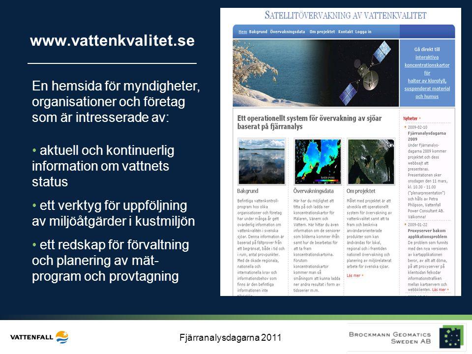 www.vattenkvalitet.se En hemsida för myndigheter, organisationer och företag som är intresserade av: