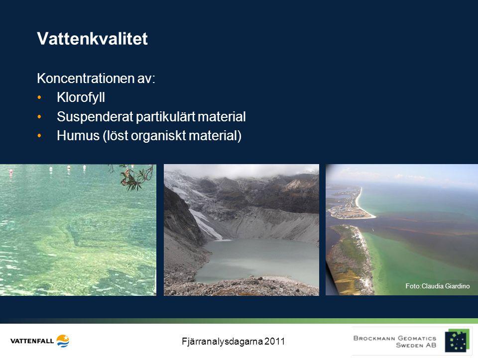 Vattenkvalitet Koncentrationen av: Klorofyll