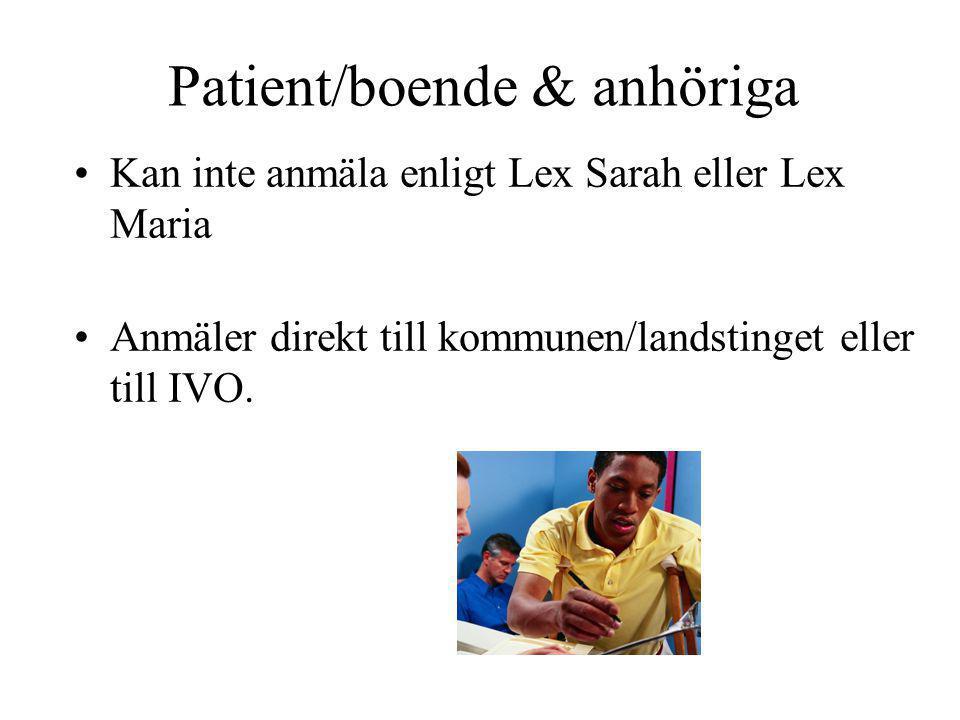 Patient/boende & anhöriga