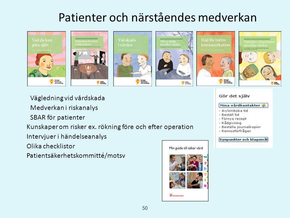 Patienter och närståendes medverkan
