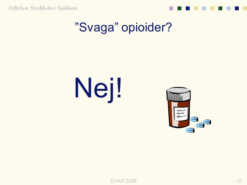 Svaga opioider Nej! EWAP 2006