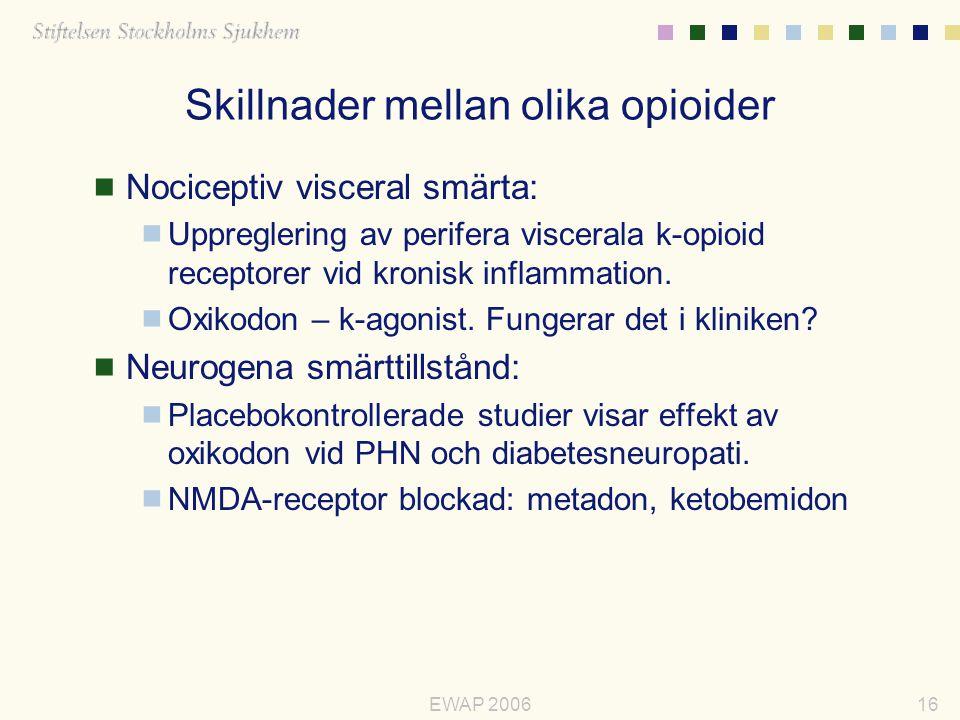 Skillnader mellan olika opioider